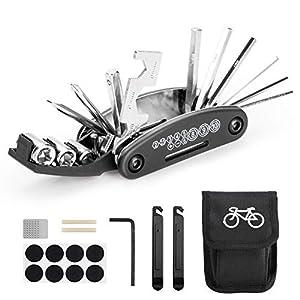 Woopus Fahrrad-Multitool, 16 in 1 Werkzeuge für Fahrrad Tragbare Werkzeuge...