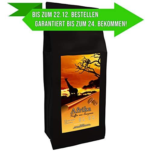Kaffeespezialität Aus Afrika - Tansania, Dem Land Des Kilimandscharo (1000 Gramm,Ganze Bohne) - Länderkaffee - Spitzenkaffee - Säurearm - Schonend Und Frisch Geröstet