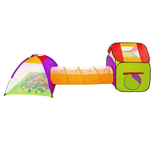 Knorrtoys Com 55305 Tenda A 4 Lati Con 100 Palline.Tectake Tenda Igloo Per Bambini Con Tunnel 200 Palline Tenda