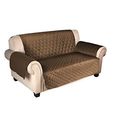 Starsglowing copridivano sofa salotto protettore imbottito mobili copertura divano marrone ( 167cm*190cm 3 posto)
