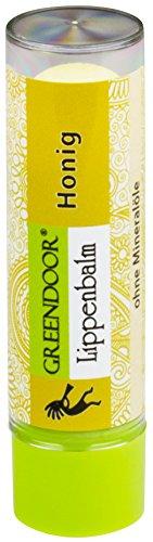 Natürliche Lippenpflege (Greendoor Lippenbalsam Honig, Lippenpflege-Stift mit BIO Jojobaöl, Naturkosmetik Lip-Butter, natürlicher Lippen-Balm, Natur Pflege + Winter-Schutz, Pflegestift für süße Kuss-Lippen, Geschenk)