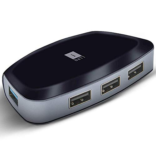 iBall Piano 314 High Speed 4 Port USB 3.0 HUB, Black
