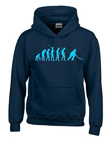 EISHOCKEY Evolution Kinder Sweatshirt mit Kapuze HOODIE navy-sky, Gr.152cm