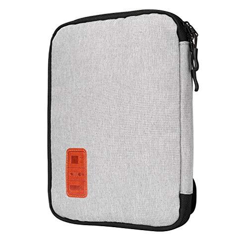 Jamber universal travel Kabel Organizer Tasche elektronische Accessoires tragen Fall karton mit 5 x kabelbinder, Grau