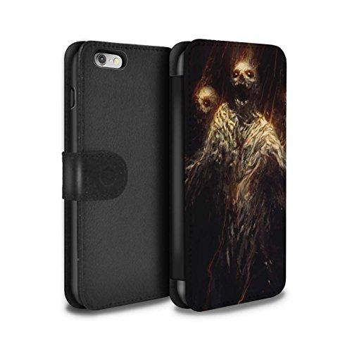 Offiziell Chris Cold PU-Leder Hülle/Case/Tasche/Cover für Apple iPhone 6 / Gehörnter Dämon Muster / Dämonisches Tier Kollektion Ghouls der Furcht