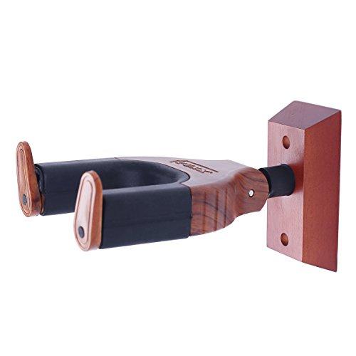kingpoint New Auto-Lock-Design Gitarre Wandhalterung Kleiderbügel passend für alle Größe E-Akustik-Gitarren Saiten Instrument rosewood