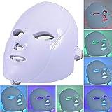 Oddity Máscara de fototerapia Masaje Facial de 7 Colores LED Light PDT Fotodinámica Fotorrejuvenecimiento Facial vaporizadores Set