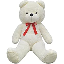 Festnight Oso de Peluche XXL 150 cm Color Blanco
