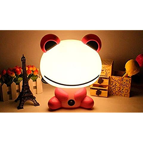 WEIAN Yam Bean rana Caricatura super Nette piccola lampada luce notturna risparmio energetico creativi camera da letto notte lampade da tavolo, 11- Beans Frog