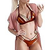 Luckycat Braguitas Tangas Parte Inferior Traje de baño Mujer Alta Elasticidad Color Sólido Talla Grande Colores Varias Bikini Vendaje