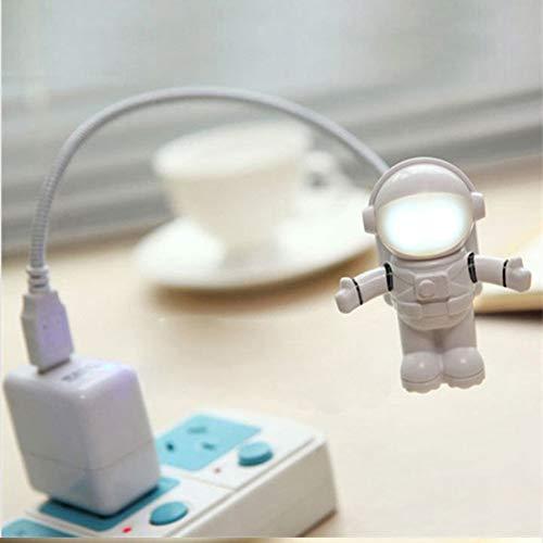 Astronaut Spaceman Usb Led Verstellbares Nachtlicht Computer Pc Tischlampe Pure White White - Computer-beratung