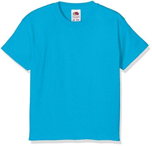Fruit of the Loom Jungen T-Shirt Value T Blau - Blue (Azure)