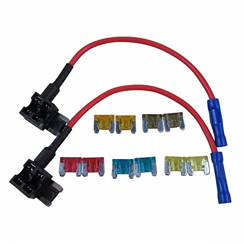 Digiten aTT add-a-circuito Low Profile mini Fuse Tap Holder Blade Style kit assortimento auto con fusibile 5a 7.5A 10A 15A 20A