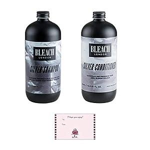 Bleichmittel London Silber Conditioner 500ml Flasche & Silber Shampoo 500ml Bottle Bundle zusammen mit Geschenkkarte