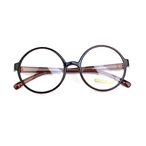 1920s Nerd Brille filigran rund Glasses Klarglas Hornbrille treber 3057 Brown