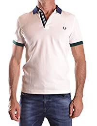 POLO FRED PERRY COLOUR BLOCK BLANC