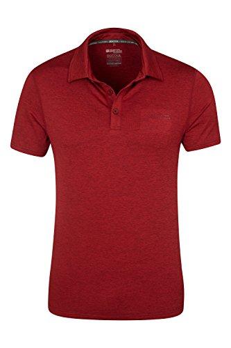 Mountain Warehouse Deuce Isocool Herren Poloshirt Rot