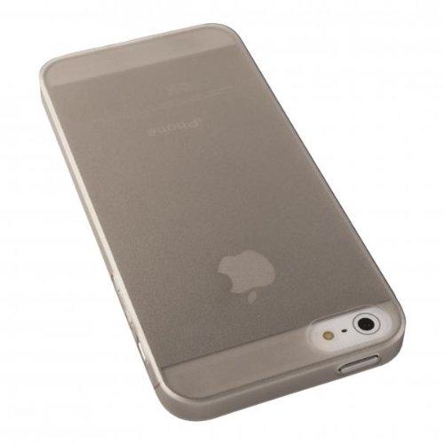 ECENCE APPLE IPHONE SE / 5 5S COQUE DE PROTECTION HOUSSE PLAT SLIM MINCE FACILEMENT ROSE 24010406 Gris
