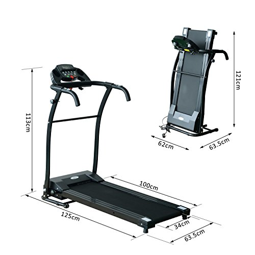 Homcom 110km H Folding – Treadmills