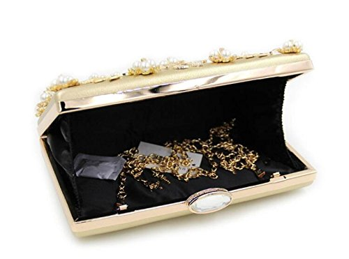 FZHLY Frau Clutch Bag High-End-Pearl-Dinner-Paket Gold