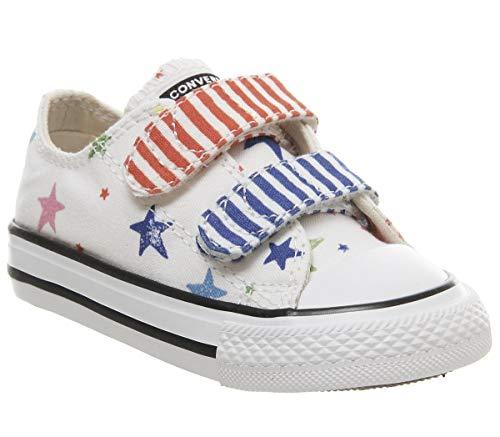 Converse Kinder Schuhe Chuck Taylor All Star 2V OX weiß, Größe:24