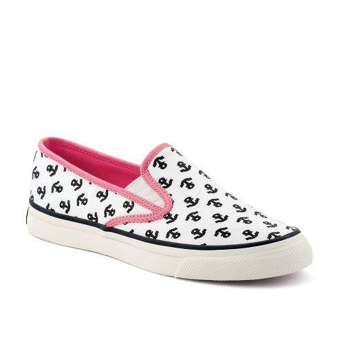 Sperry Top Sider Mariner Ivory/Pink Anchor Damensneaker Ivory/Pink