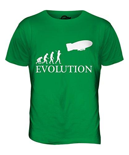 CandyMix Luftschiff Evolution Des Menschen Herren T Shirt Grün
