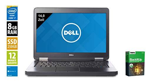 Dell Latitude E5440 | Notebook | Laptop | 14,0 Zoll (1366x768) | Intel Core i5-4310U @ 2,0 GHz | 8GB DDR3 RAM | 250GB SSD | DVD-Brenner | Webcam | Windows 10 Home (Zertifiziert und Generalüberholt)