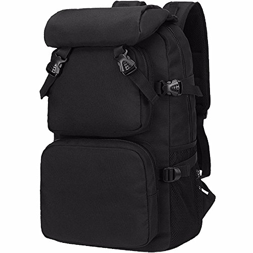 TBB-Zaino borsa a tracolla impermeabile capacità grande borsa da viaggio,Kaki grandi Black Large