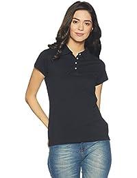 DJ&C Women's Plain Regular Fit T-Shirt