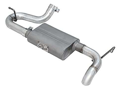 aFe (49-08046) Scorpion 2-1/2 Aluminized Hi-Tuck Axle-Back Exhaust System for Jeep Wrangler JK V6-3.8/3.6L Engine by aFe