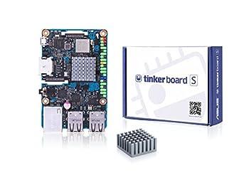 ASUS Tinker Board S Geliştirme Kartı (Rockchip Quad-Core RK3288 Prozessor, 2GB DDR3, 4x USB 2.0)