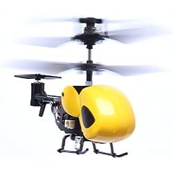 Malloom RC 5012 2Ch Mini Helicóptero RC De Radio Control Remoto De Aviones Micro 2 Canales (Amarillo)