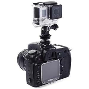 XCSOURCE® Mini Adaptateur de fixation pour griffe réglable + trépied + Vis pour caméra GoPro Hero 1 2 3 3+ 4 OS72