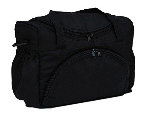 BABYLUX Pflegetasche WICKELTASCHE Kinderwagentasche Windeltasch für Kinderwagen (Grafit) Schwarz