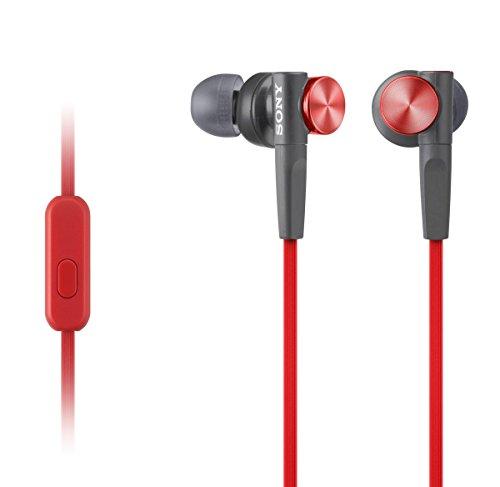Sony Kopfhörer MDR-XB50APR In-Ohr-Headset-Kopfhörer (Extra Bass) rot
