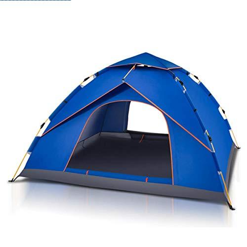 Unbekannt Outdoor 4-5 Personen Wasserdicht Bivouacking Zelt Outdoor Automatik Instant Pop Up Winddicht Baldachin Sonnenschutz LINABIND, blau