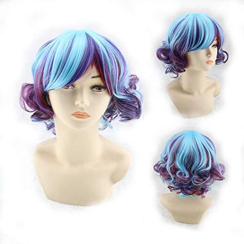 TGCYMYY Kurze lockige Haare Perücke Farbe Perücke Europa und Amerika Perücke Nachtclub Bühnenshow Anime Cosplay Großhandel