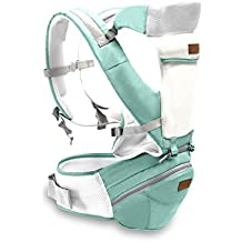 SONARIN 3 in 1 Multifunzione Hipseat Baby Carrier, Portantina per bebè, ergonomico, Sacchetto della mummia, 100% cotone, Supporto in mesh traspirante, facile da trasportare e facile mamma, accogliente e lenitivo per i neonati, adattato al crescente del tuo bambino, 100% GARANZIA e CONSEGNA GRATUITA, Ideale Regalo