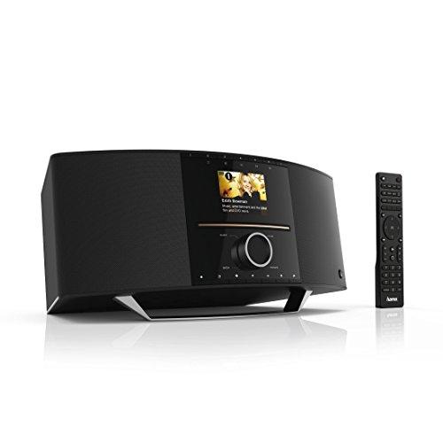 "Hama Internetradio mit CD Player und DAB+ (Spotify, WLAN/LAN/UKW/CD/Bluetooth/USB, 40 Watt RMS, Digitalradio mit 2,8"" Farbdisplay, Multiroom, Fernbedienung, gratis UNDOK Radio App) schwarz"