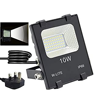 10W LED Flood Lights, Waterproof Outdoor Floodlight,Outdoor Security Lighting,Super Bright 50 LED Chips, Soft Daylight White, Full Power, 120W Equivalent, 86-265V Input Voltage