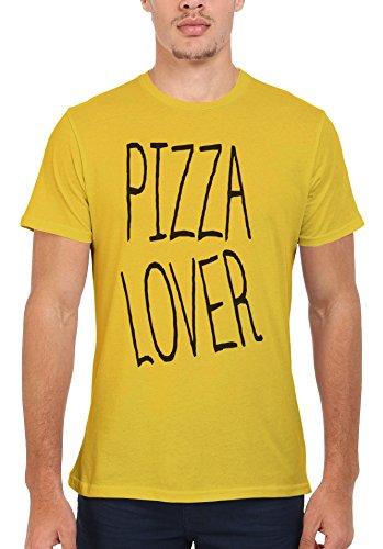 Pizza Lover Italy Food Men Women Damen Herren Unisex Top T Shirt Licht Gelb