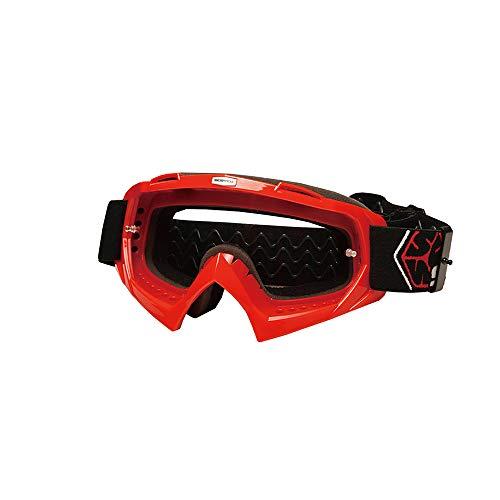 CXJ Motocross-Brille Motorradbrillen Winddicht Staubdicht Dirt Bike Goggles Wickeln Sie Reitbrillen Schützende Sicherheit Off Road Goggles,Red