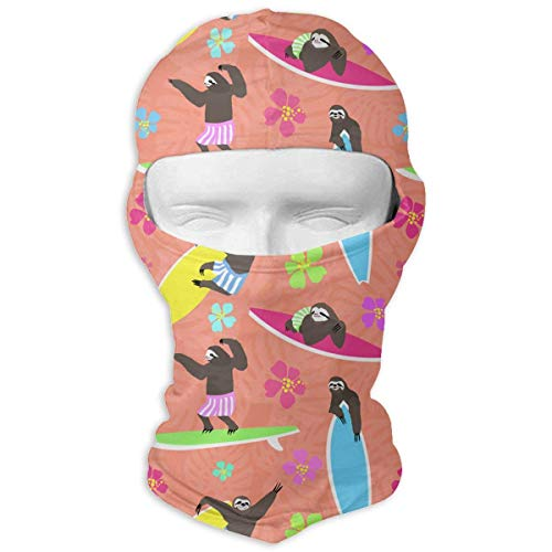 hs Men Women Balaclava Neck Hood Full Face Mask Hat Sunscreen Windproof Breathable Quick Drying White New12 ()