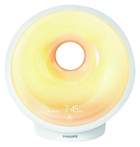 Philips Wake-up Light LED, Aufwachen und Einschlafen mit Licht, weiß, HF3651/01