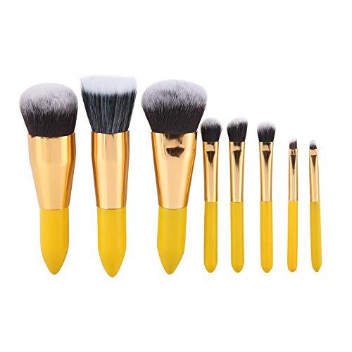 Zerone 8 Teile/satz Zitronengelb Farben Make-Up Pinsel Set Stiftung Pulver Lidschatten Concealer...