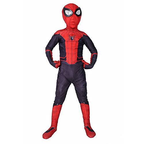 Wegcju costume in costume spiderman spiderman costume spiderman fancy dress costume da travestimento cosplay accessori costume carnevale,m