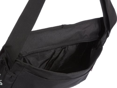 Poodlebags young Art - slogan - the message Skull - 3YA0312MSKUB, Unisex - Kinder Messengerbags, Schwarz (black), 35 x 12 x 30 cm (B x H x T) Schwarz (black)