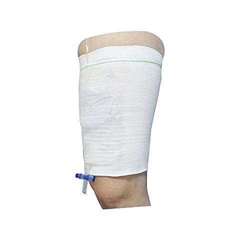 Carer Comfort Sleeve Urine Catheter Bag Leg Holder for Incontinence Supporting Attached 2pcs Medium