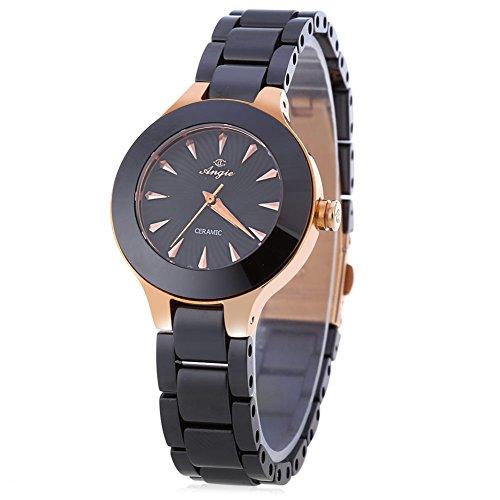 leopard shop angie st7175l ladies quartz wrist watch macaroon series ceramic band #2